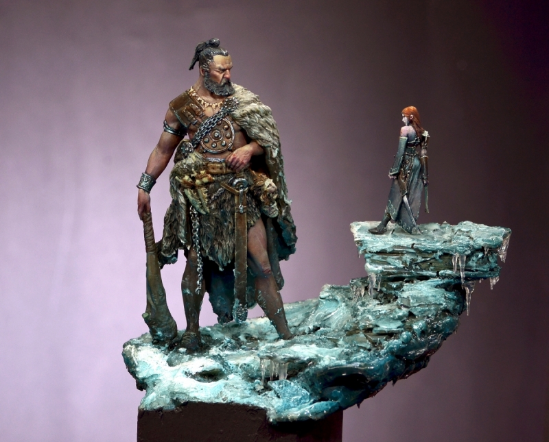 Davide and Goliath painted by Roman Lappat