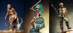 Range of figure genres, from Neandrathal to Modern. All pieces from Pegaso