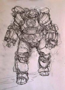 Winter Child Sketch