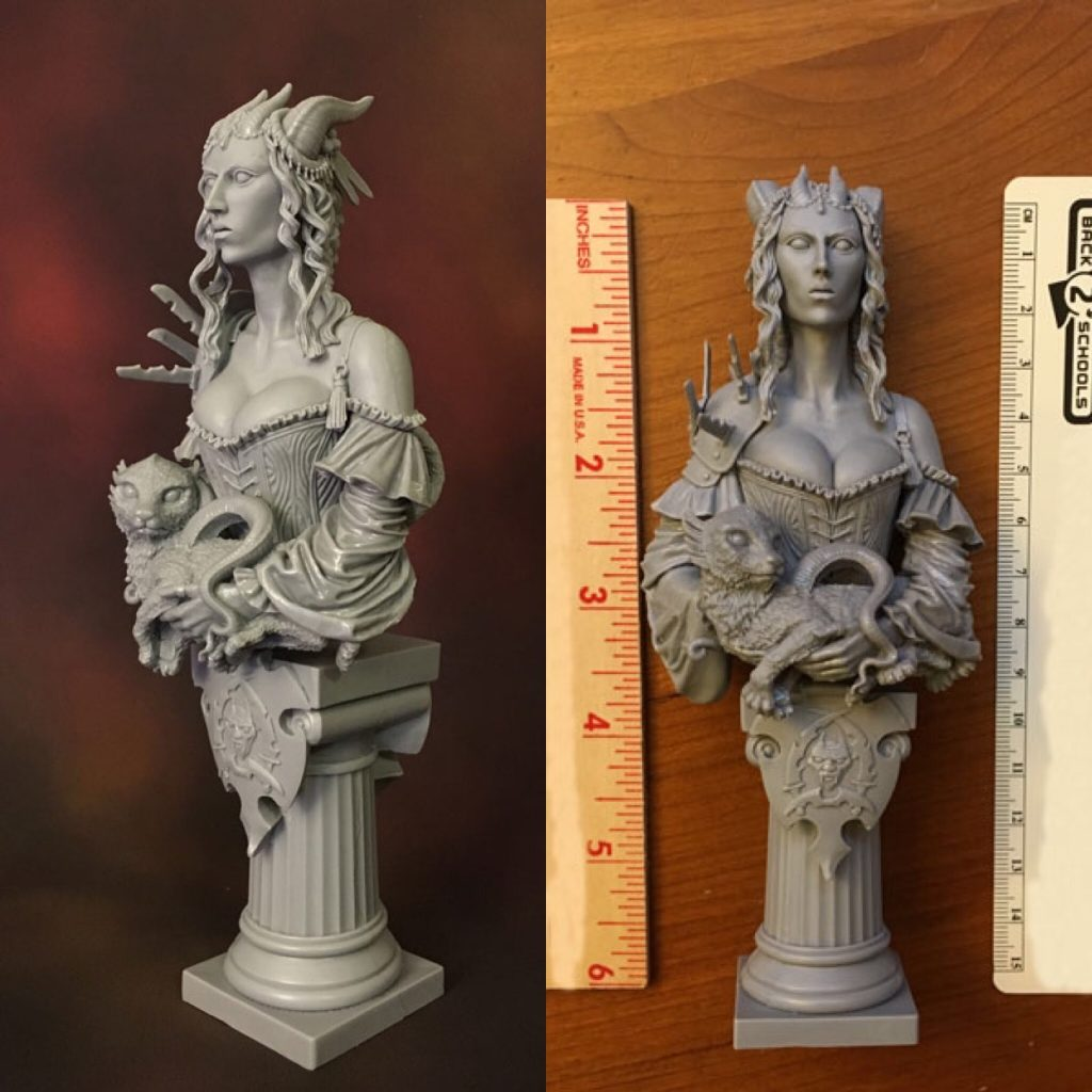 Assembled Bust and Scale