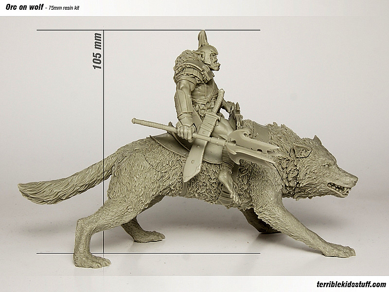 orc on wolf